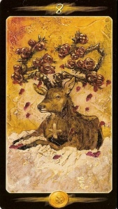Pentacles-8 of
