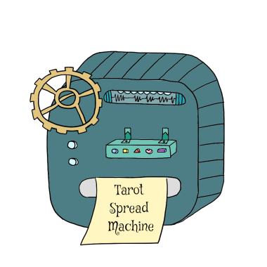 tarot spread machine