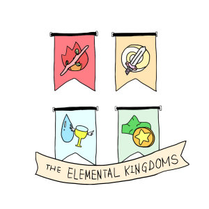 elemental kingdoms transparent with banner