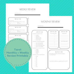 Tarot Draw'sMonthly + Weekly Review Printable Listing Picture