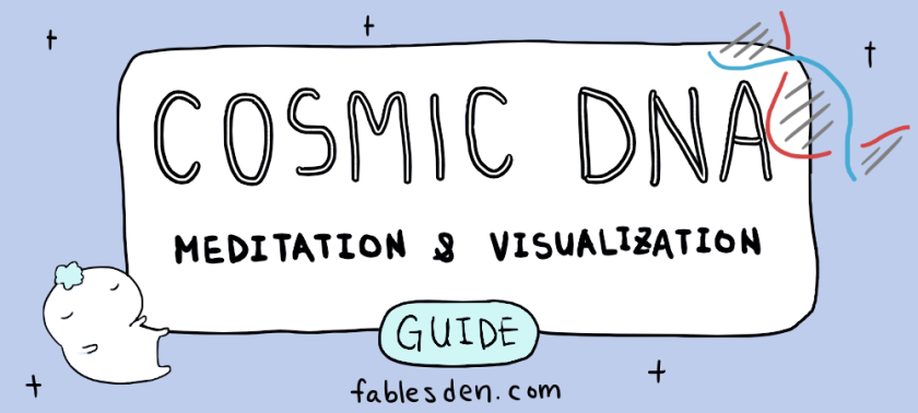 Cosmic DNA meditation guide banner