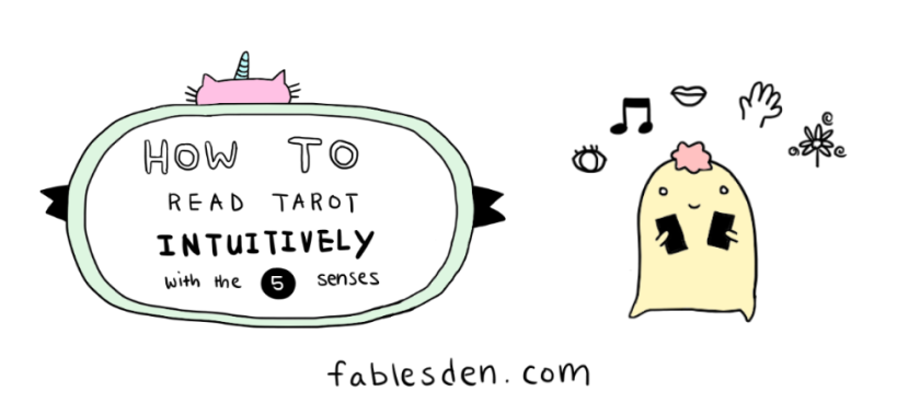 how to read tarot intuitively with the 5 senses banner