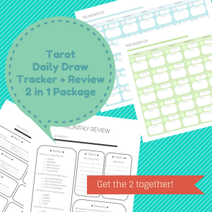 Tarot Daily Draw Tracker + Review 2 in 1 Package