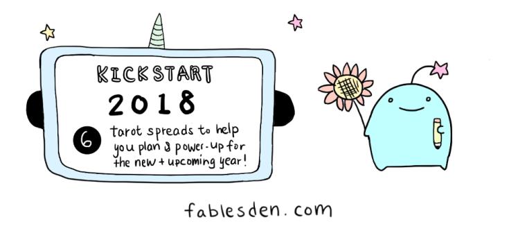 tarot spread jumpstart 2018 banner