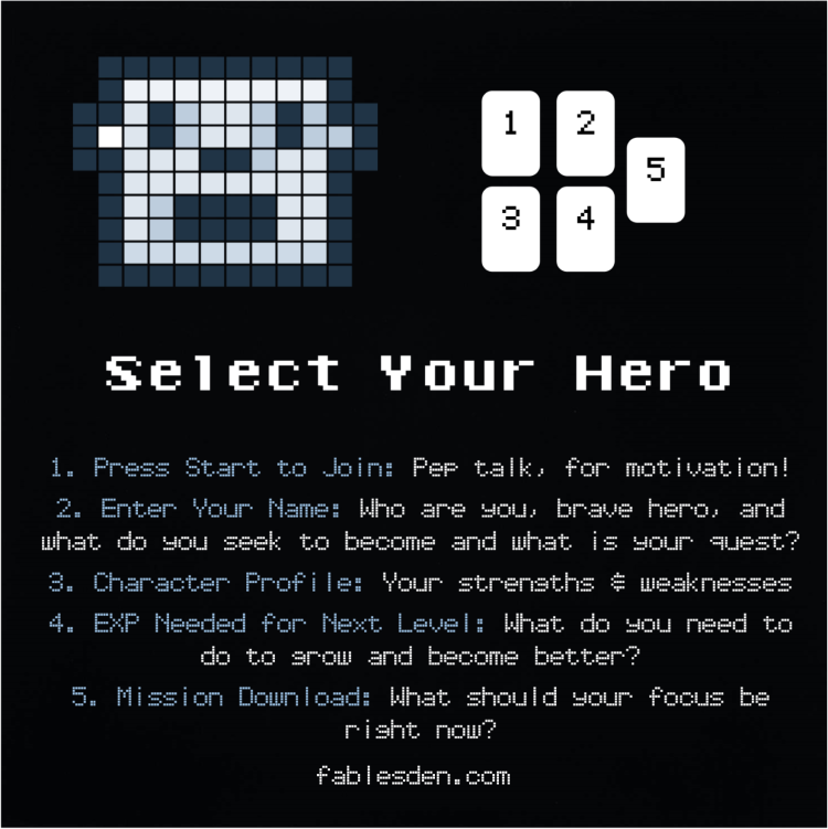Select Your Hero Tarot Spread
