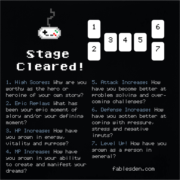 Stage Cleared Tarot Spread