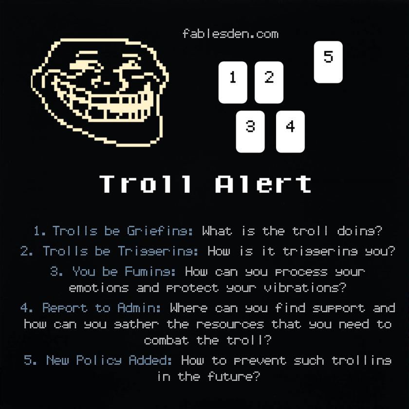 Troll Alert Tarot Spread
